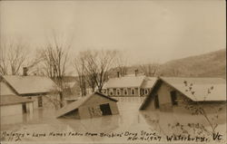 Maloney + Lamb Homes taken from Brisbins' Drug Store, Nov. 4, 1927 Flood