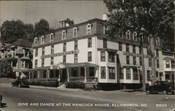 Dine and Dance at the Hancock House Postcard