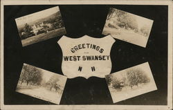 Views of West Swansey Postcard