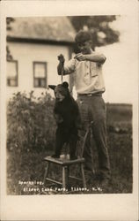 Man and Bear Cub, Sparkplug, Silver Lake Farms