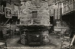 Great Fireplace and Interior, Echo Lake Lodge