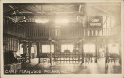 Camp Fernwood Interior Postcard