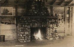 Fireplace at Moosehead Lodge