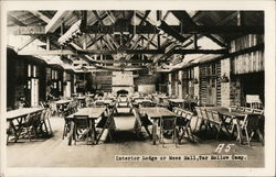 Interior Lodge or Mess Hall, Tar Hollow Camp