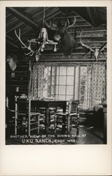 View of Dining Hall at Uxu Ranch Postcard