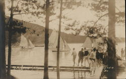 Camp Winona, Sailboats on the Lake - Regatta Day
