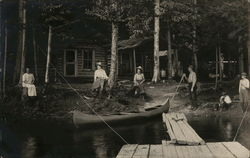 Rustic Camp Cabin, Dock and Canoe
