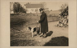 Man With Hunting Dog