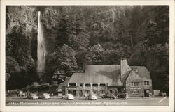 Multnomah Lodge and Falls, Columbia River Highway