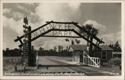 Entrance to Okefenokee Swamp Park