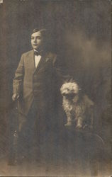 Portrait of Boy and Dog