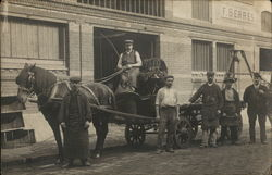"""F. Serres"" Delivery Wagon and Workers"