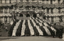 1909 Human Flag Composed of 2500 Albany School Children