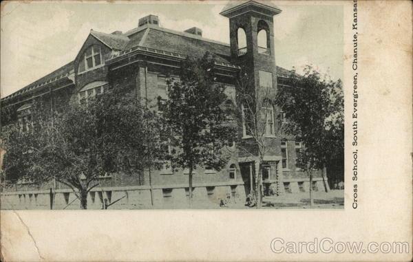Cross School, South Evergreen Chanute Kansas