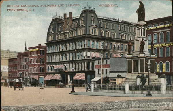 Butler Exchange, Soldiers and Sailors Monument Providence Rhode Island