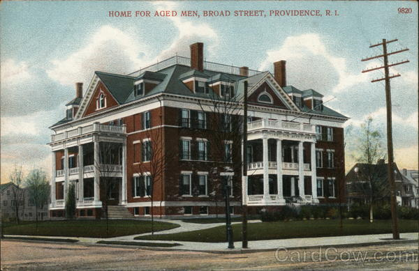 Home for Aged Men, Broad Street Providence Rhode Island