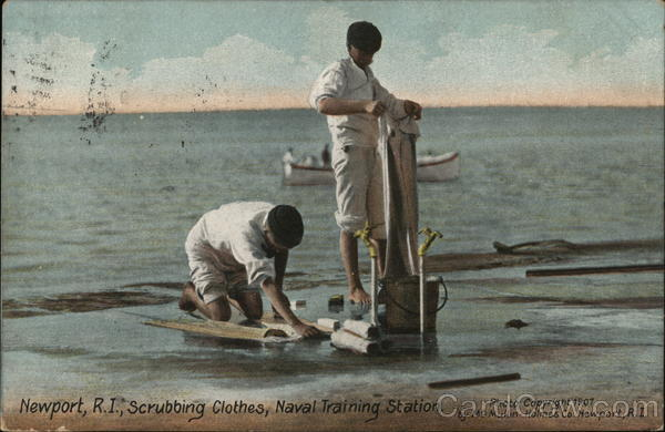 Scrubbing Clothes, Naval Training Station Newport Rhode Island
