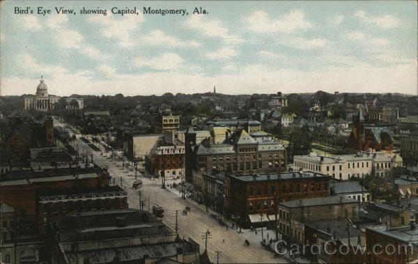 Bird's Eye View, showing Capitol Montgomery Alabama