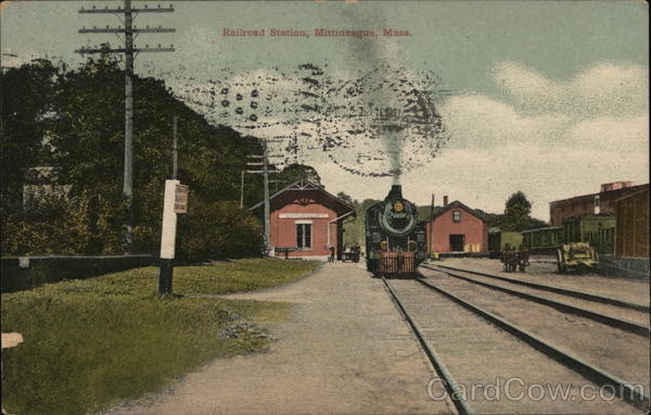 Railroad Station Mittineague Massachusetts Depots