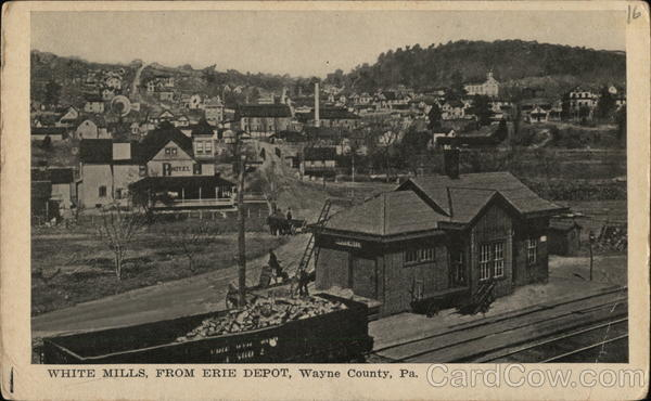 White Mills from Erie Depot Pennsylvania Depots