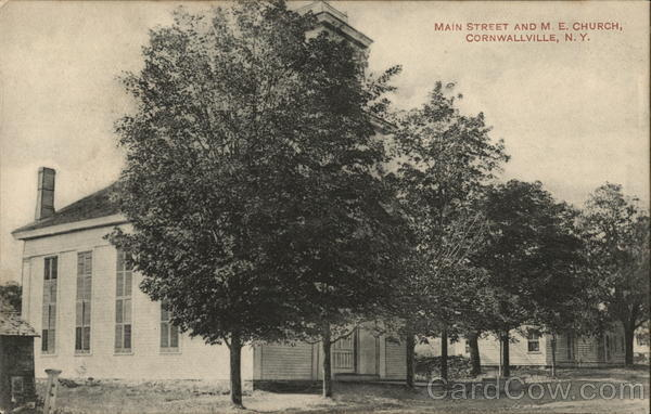 Main Street and M. E. Church Cornwallville New York