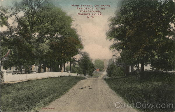 Main Street, Dr. Parks Residence in Foreground Cornwallville New York