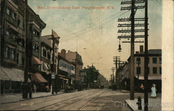 Main Street Looking East Poughkeepsie New York