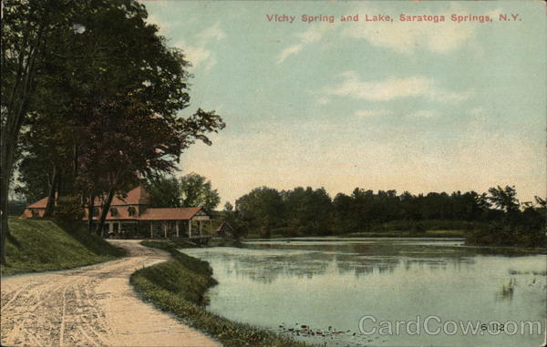 Vichy Spring and Lake Saratoga Springs New York