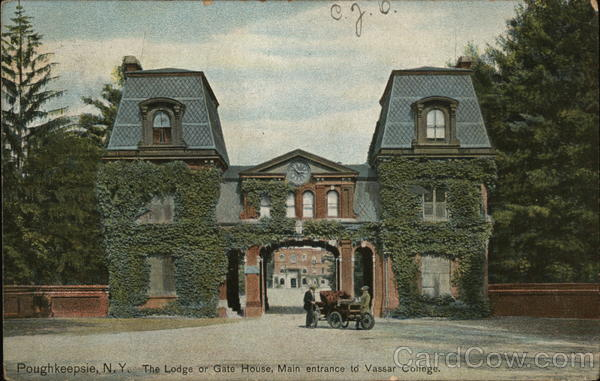 The Lodge or Gate House, Main Entrance to Vassar College Poughkeepsie New York