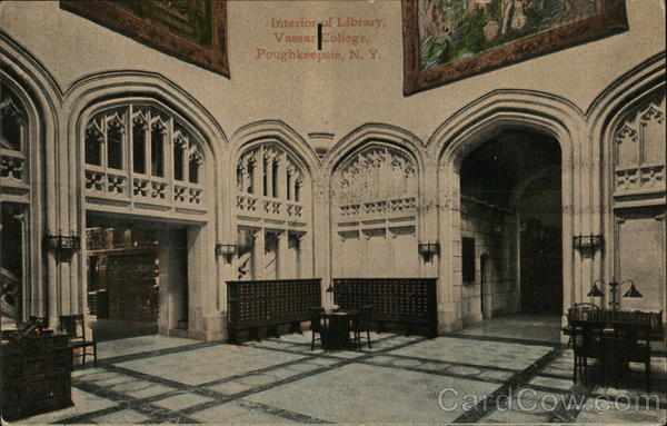 Interior of Library, Vassar College Poughkeepsie New York