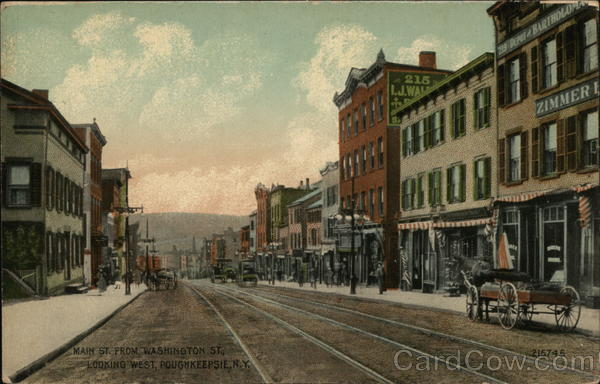 Main Street from Washington Street, Looking West Poughkeepsie New York