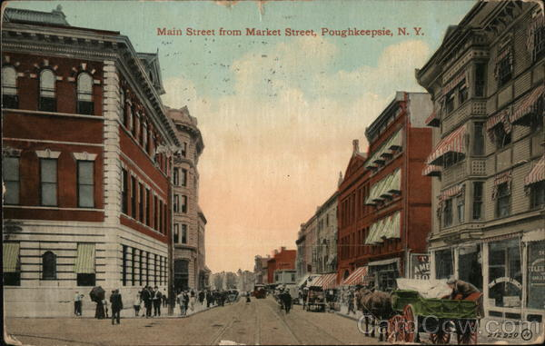 Main Street from Market Street Poughkeepsie New York