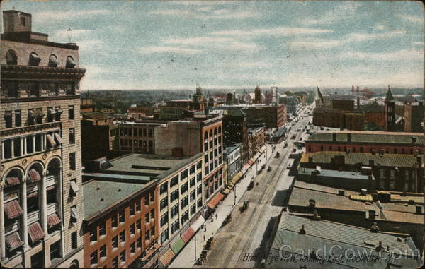 Bird's Eye View, looking East Rochester New York