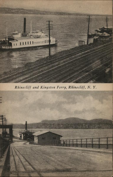 Rhinecliff and Kingston Ferry New York