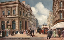 Stephenson Place, New Street Postcard