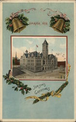 Season's Greetings from Omaha Nebraska Postcard