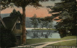 View of Ivy Isle in the Adirondack Mountains