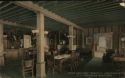 Office and Lobby, Morley's, Adirondack Mountains
