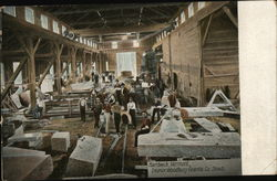 Interior of Woodbury Granite Co. Sheds