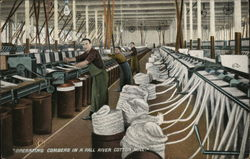 Operating Combers in a Fall River Cotton Mill