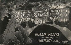Whazzer Mazzer Wis the University Hall Postcard