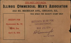 Illinois Commercial Men's Association Correspondence Card