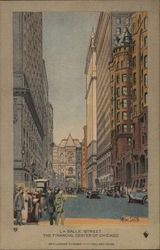 La Salle Street - Financial Center of Chicago Postcard