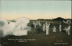 Drilling With 5-Inch Field Gun, Naval Training Station