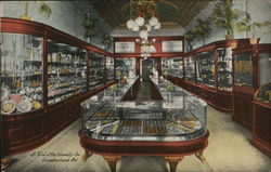 S.E. Little Jewelry Co. Interior Postcard