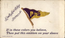 Baltimore Medical College P&S Pennant Postcard