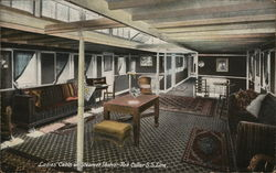 Ladies Cabin on Steamer Idaho