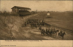 Troop D, State Constabulary Postcard