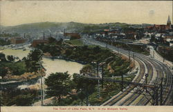 The Town of Little Falls In the Mohawk Valley Postcard