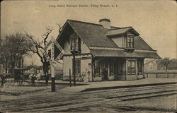 Long Island Railroad Station Postcard